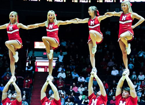 Ole Miss #Cheer, college cheerleading, , stunt, cheerleader, collegiate  - Cheerin' for the Rebels by path*doc, via Flickr, ole miss cheerleading  cheerleaders