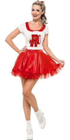 Plus size cheerleader fancy dress costume