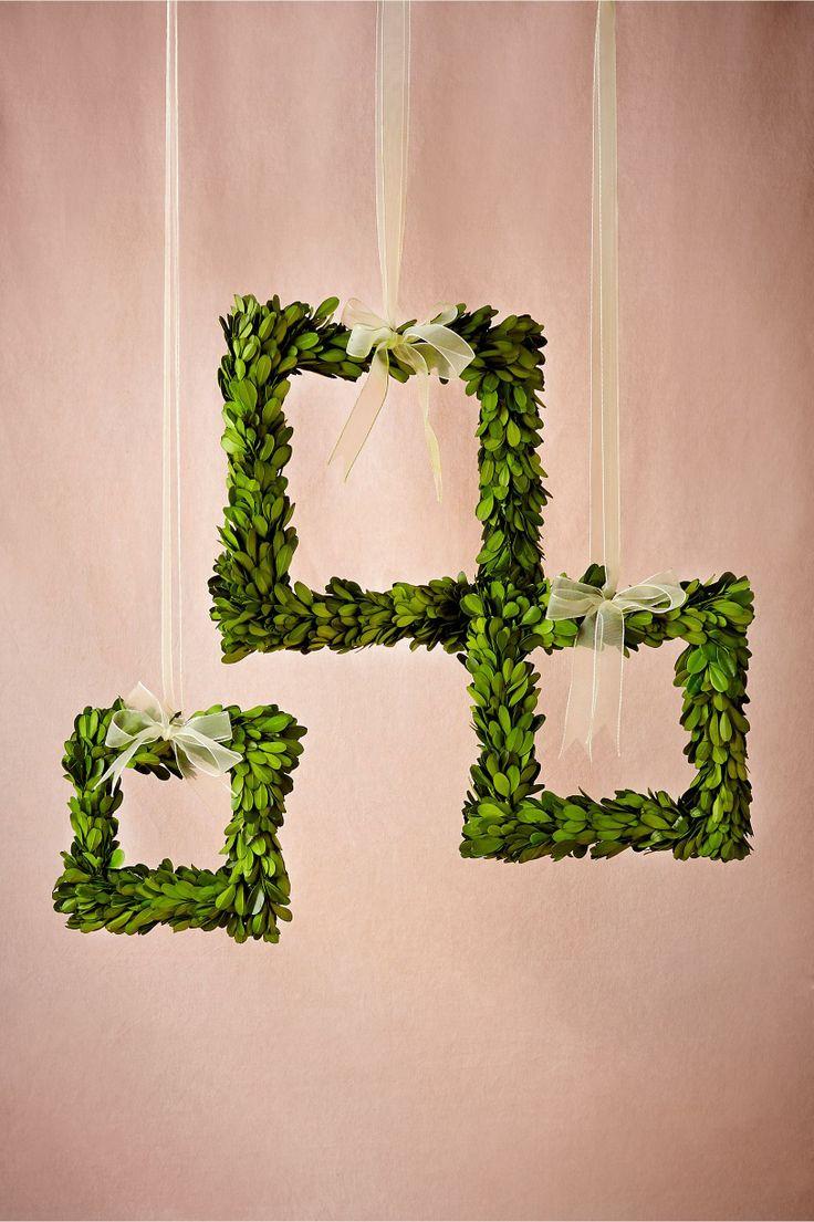 Boxwood Wreath Frames Set Of 3 From Bhldn Wedding
