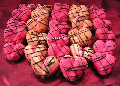 teller-cake: Néró teasüteményből szivecskék Valentin napra :)