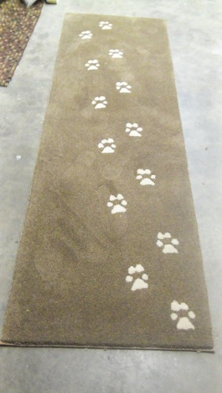 rugs dog spaces footprint art humane society kitchen decorations dog