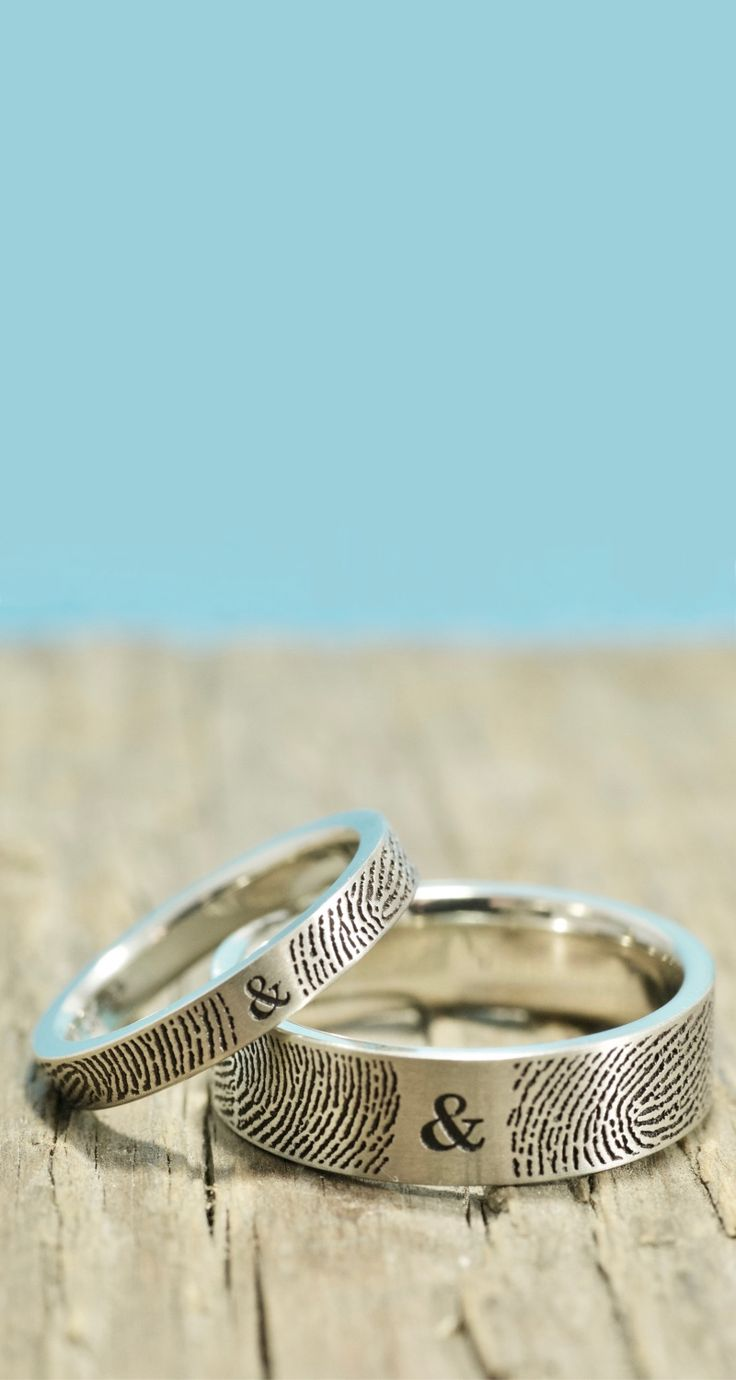 fingerprint wedding rings fingerprint wedding band Brent Jess Fingerprint WeddingJudy
