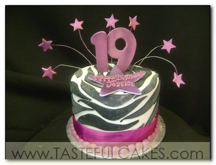 19th birthday cake designs