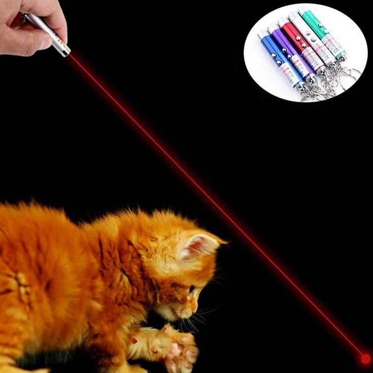 1pc Funny Laser Cat Toys Interactive Cat Teaser Toy Red Blue Laser Pointer Pen 6*1cm