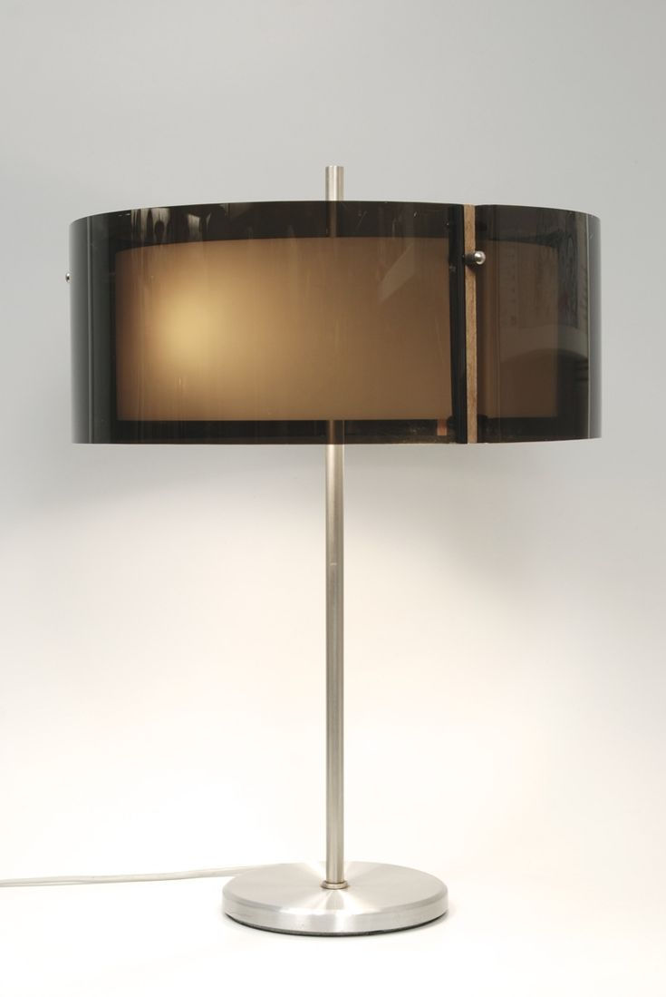 Kemp & Lauritzen; Acrylic and Chromed Metal 'Acrylux' Table Lamp by Hovik, c1970.