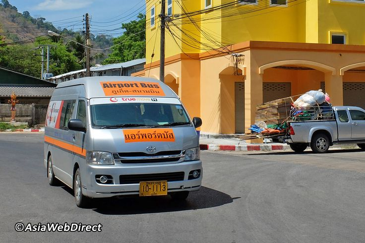 """The Phuket Airport Bus Schedule is fixed and known to be very reliable. There are two types of vehicle: buses and vans that have an orange """"Airport Bus"""" logo on them. The big bus' fare is 90 baht per trip and takes about 1:40 hours to"""