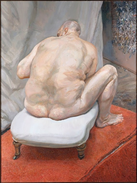 Lucien Freud painted big people with love and honesty instead of hate & condescension. He painted flesh as it really is, instead of the tidy, firm, prepubescent, plasticised matter society demands. But  he would sometimes be criticised for exploiting them, cruelly turning them into circus show grotesques.