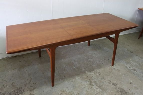olsen teak dining table seats 10 when extended mid century danish