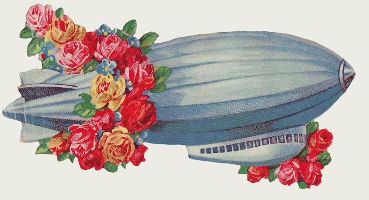 Sentimentalia - Victorian Stickers ~ Glansbilleder > Air Craft ~ Flyvemaskiner