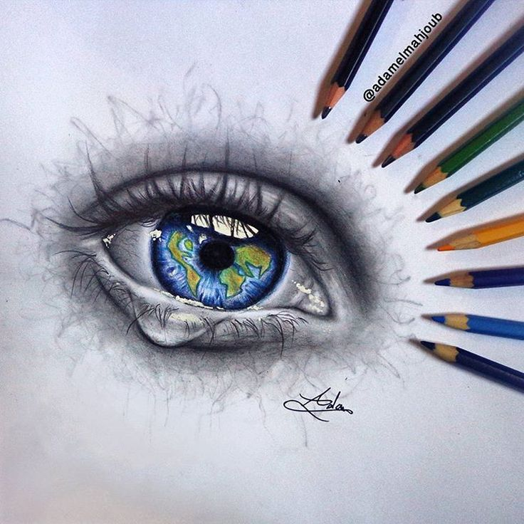 """ADAM almahjoub on Instagram: """"Done  guess what is the meaning of this drawing? ❤ ف رايكم شن تعني هدي الرسمه؟  #رايكم #art #artist #world #cry #eye #love"""""""