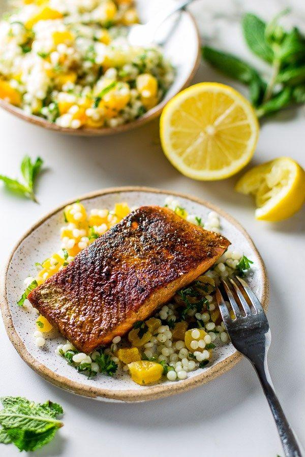 Moroccan Salmon Apricot Couscous Salad Recipe Menu Ideas