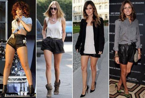 Черные шорты: Сексуально, но не откровенно.