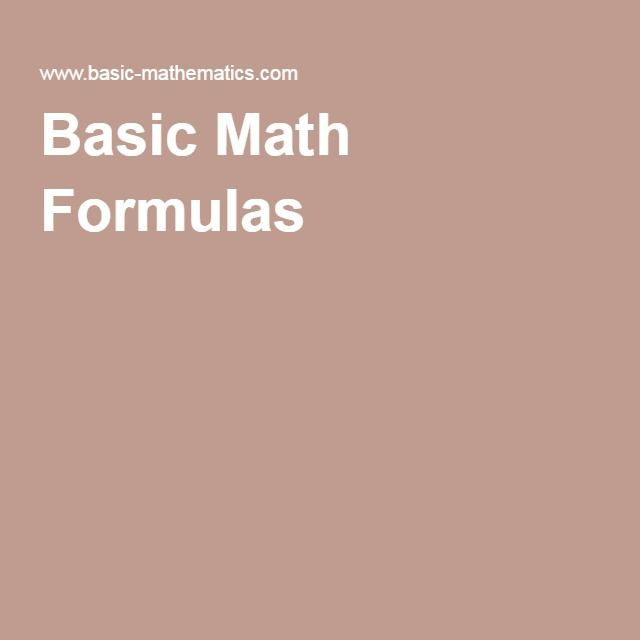 maths basic formulas list pdf