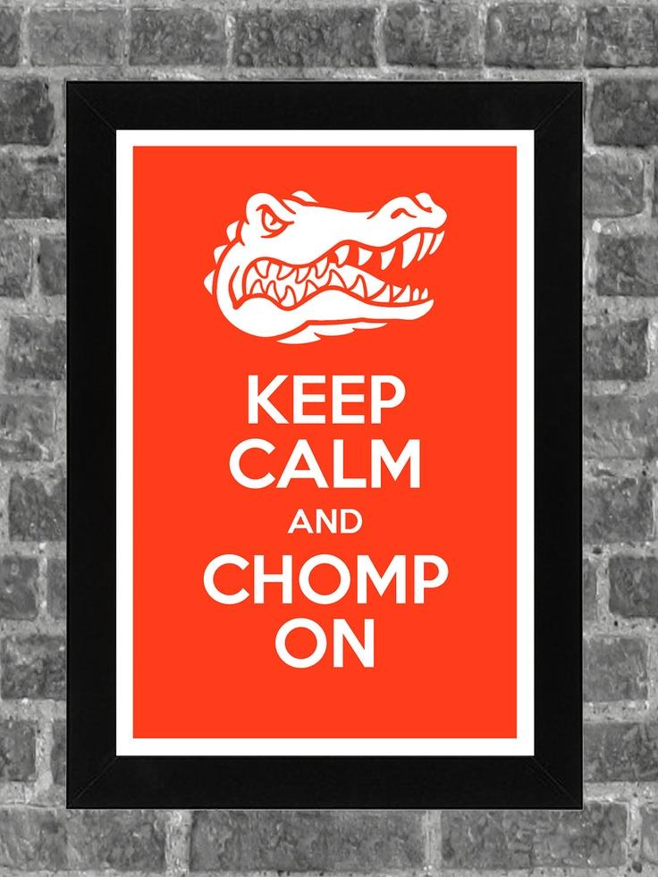 Keep Calm Florida Gators NCAA Print Art 11x17. $14.99, via Etsy.