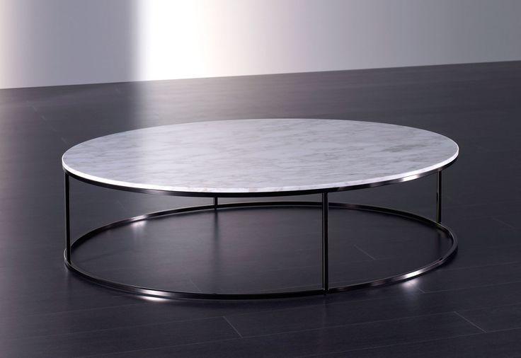 table basse contemporaine en marbre ronde bloom meridiani more table