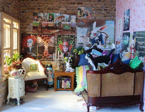 Alice in Wonderland room. Dollhouse