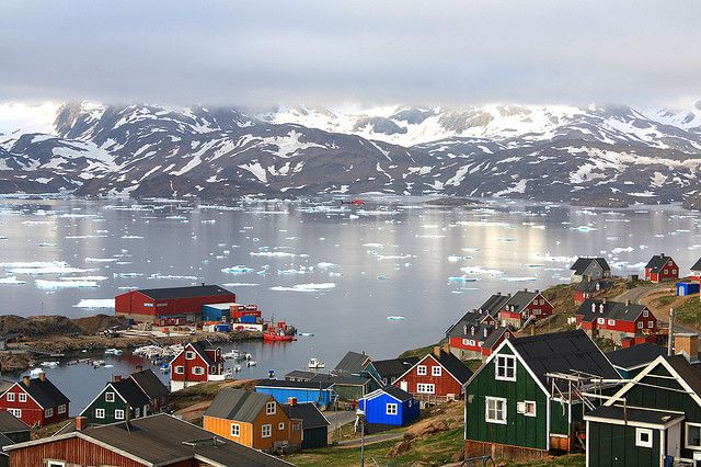 This looks very much like the outport villages in my home province of Newfoundland. Love it. || The Village of Tasiilaq Greenland