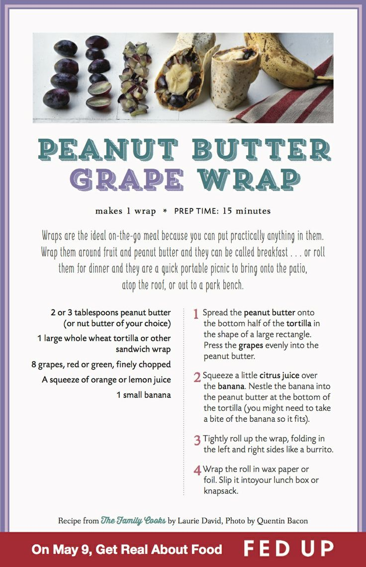 Peanut Butter Grape Wrap by Laurie David #FedUpChallenge