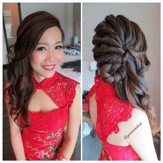 tutorial hair styles wedding dinner makeup amp hairdo curl twisted 7835