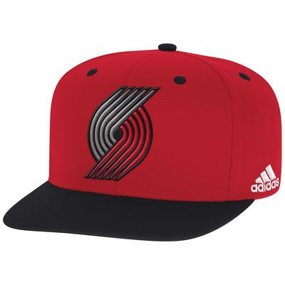 Men's adidas Red/Black Portland Trail Blazers On-Court Adjustable Snapback Hat