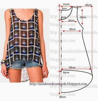 BLUSA FÁCIL DE FAZER - 2 | Moldes Moda por Medida | Bloglovin                                                                                                                                                     Más