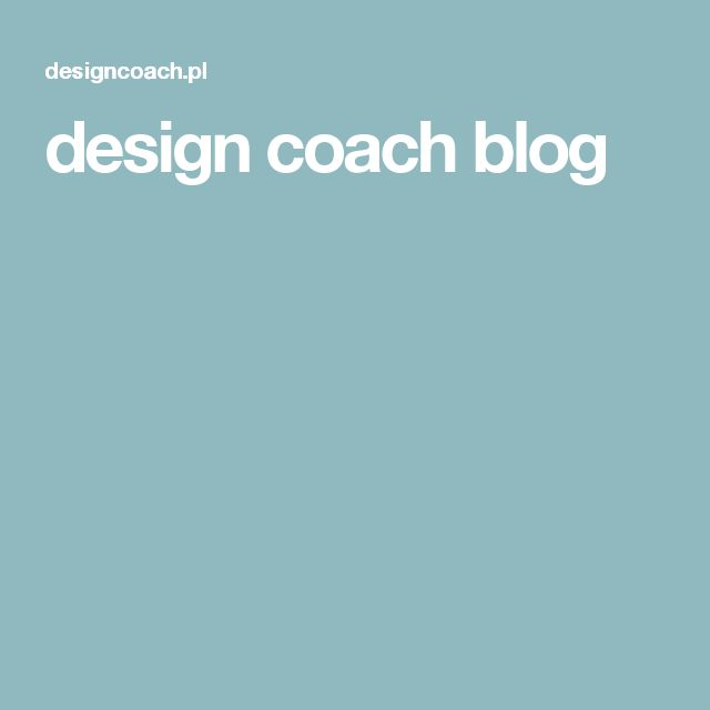 design coach blog