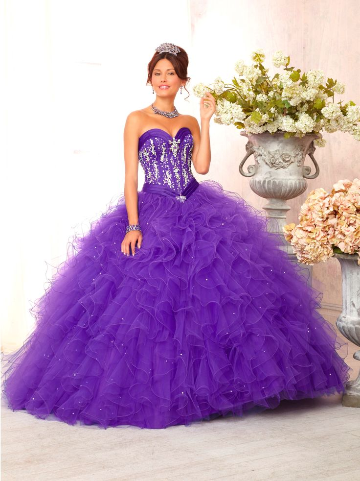 Mori Lee Vizcaya Quinceanera Dress Style 88085 is made for girls who want to look like a beautiful Princess on her Sweet 15 with its lovely design. Made out of satin and tulle, this ball gown features