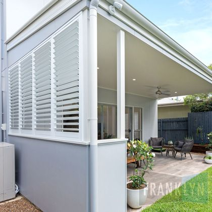 Franklyn Aluminium Shutters, made from high tensile, powder-coated aluminium, great of external applications