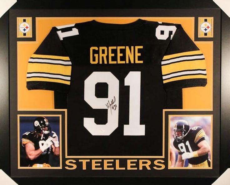 Kevin Greene Signed Steelers 35x43 Custom Framed Jersey (JSA COA)