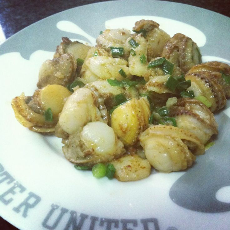 Hot and spicy garlic scallop