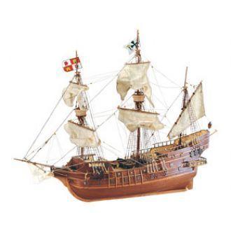 GALEÓN ESPAÑOL SAN JUAN S. XVI - Construido en 1576, formó parte de la flota de Galeones de Castilla, íntimamente vinculados a nuestra historia pues de sus llegadas regulares a los puertos españoles provenientes de las Indias dependía la economía española y el sostenimiento de su posición como primera potencia mundial. Desde que aparecieron los galeones en la Armada Invencible a mediados del siglo XVI, fueron los barcos de guerra por excelencia durante casi 150 años.