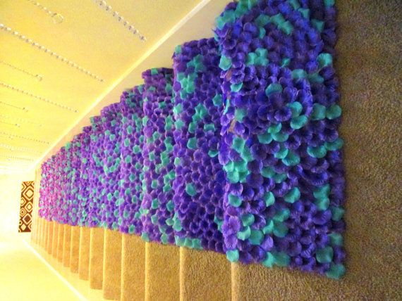 The Peacock-Purple & Teal Silk Rose Petal Aisle by PetaleDeRose
