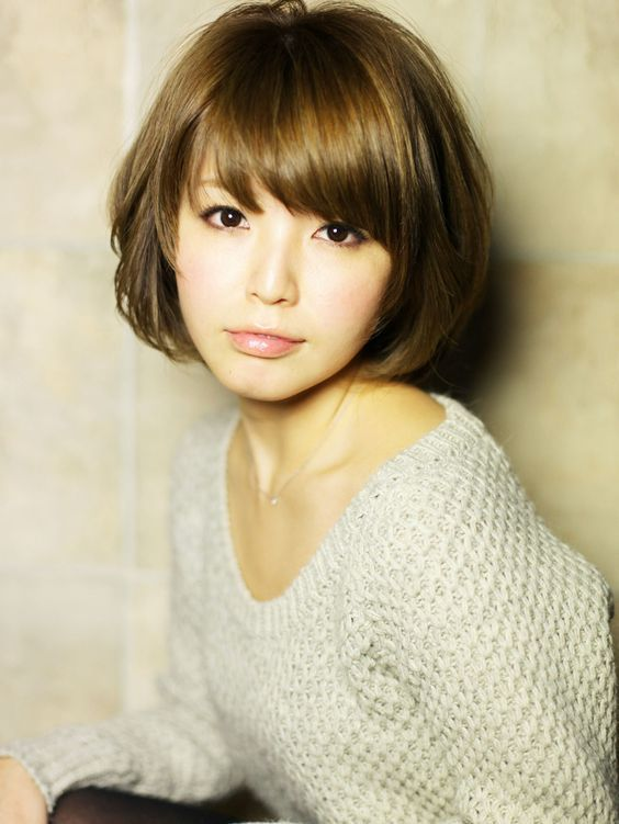 Short Bob Hairstyles with Bangs for Asian Women