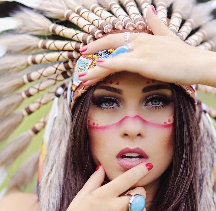 maquillaje de mujer india