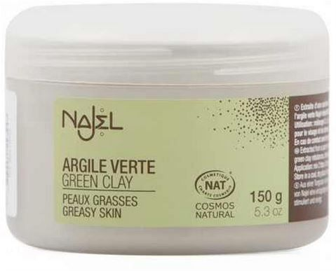 Najel  Σκόνη Πράσινου Αργίλου (Green Clay Powder) 150gr    Τόνωση & καθαρισμός!   Η πράσινη άργιλος Najel προέρχεται από την Auvergne της Γαλλίας. Είναι μια μοναδική σύνθεση που ισορροπεί , τονώνει και καθαρίζει το δέρμα.  Εξισορροπεί και αναζωογονεί και είναιιδανική για όλους τους τύπους δέρματος.  WWW.ORGANICBRANDS.GR