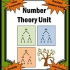 This math unit on number theory has it all:  Definitions Divisibility Rules Prime or Composite Factors Prime Factorization Greatest Common Factor (...