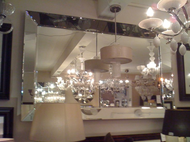 Large quattro venetian glass bevelled mirror 205cm x 140cm for Glass mirrors for walls