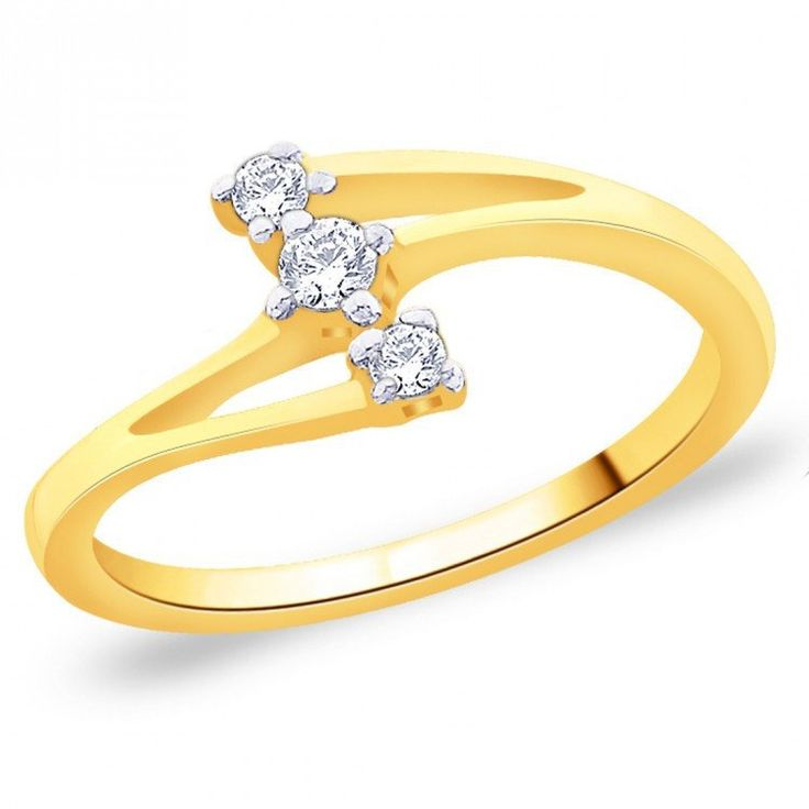 Golden colour and attractive American diamond   finger ring.  Occasion - Party Wear, wedding.