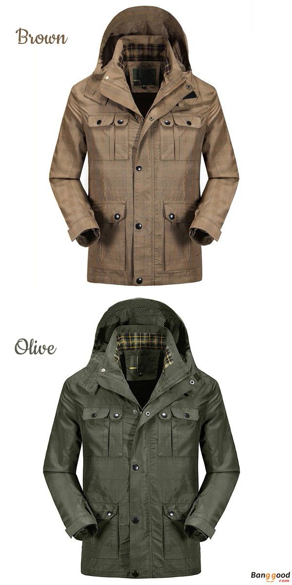US$62.99 + Free Shipping. Mens Coats, Outdoor Coats, Hiking Waterproof Jacket, Detachable Hooded Coats, Casual Sport Coat. Color: Army Green, Khaki. >>> To View Further, Visit Now.