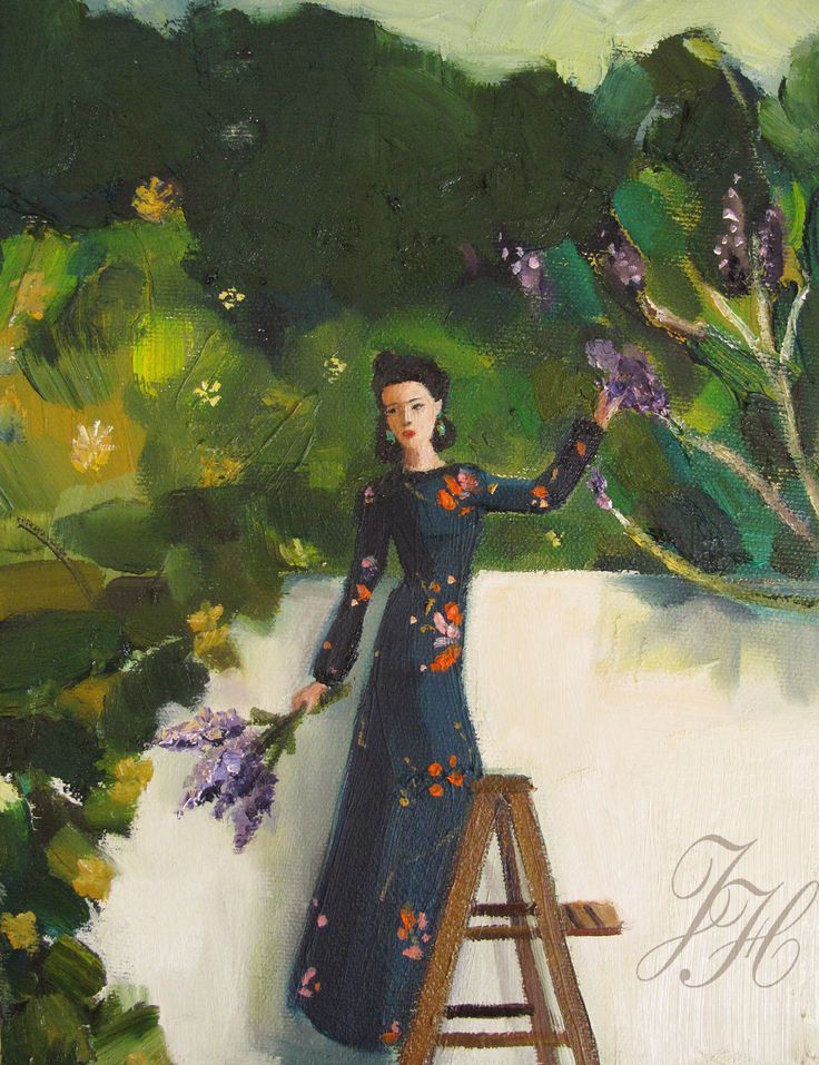The Lilac Thief - Janet Hill-May 6, 2016