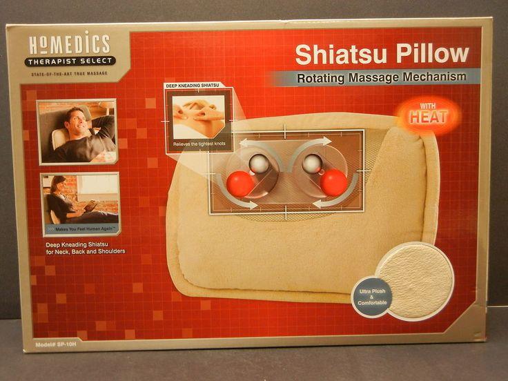 Homedics Shiatsu Pillow Rotating Massage Mechanism With Heat  SP-10H  1757 #Homedics   $28.97