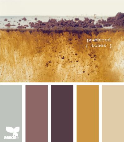 powdered tonesBrown And Gold Bedroom, Yellow Grey Purple Living Room, Brown Mauve Home Decor, Grey And Gold Bedroom, Earthy Colors Art, Purple And Gold Bathroom, Earthy Colours Palette, Painting Colors, Mauve And Gold Bedroom