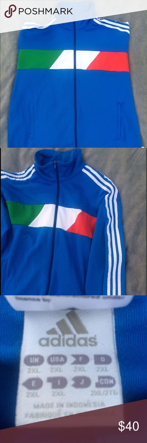 Men's Adidas Italia Soccer Jacket Men's Adidas Italia Soccer Jacket. In great condition looks brand new! Special Italy Jacket from the soccer World Cup. adidas Jackets & Coats