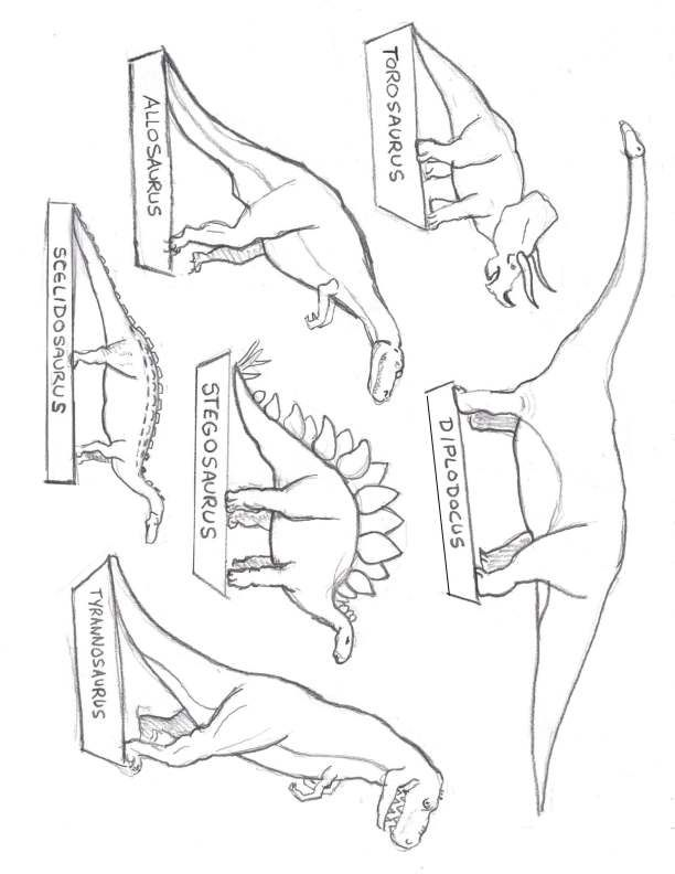Great dinosaur drawing image