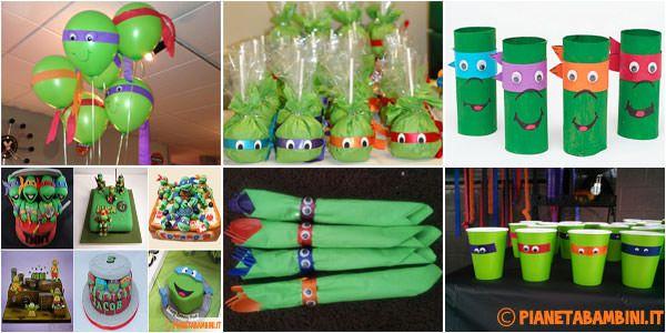 Eccovi 10 simpaticissime idee per feste a tema Tartarughe Ninja per dare un tocco di originalità ai compleanni dei bambini che amano questi personaggi