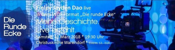 """Ein kurzer Auszug aus meiner """"Lebens""""-Geschichte! LIVE!  Samstag bin ich live und Gast beim WDR Format """"Runde Eckige"""", welches in der Christuskirche in Warendorf stattfindet. Ich erzähle ein Stück aus meinem Leben, dass das Schicksal immer auch ein kleines Geschenk inne hat....und das unter dem Dach der Kirche. Das berühmte WDR Format """"Runde Eckige"""" trifft Finley Jayden Dao! Weitere Infos auf meiner website! #finleyjaydendao #fernsehn #kirche #show #philosophie #zitate"""