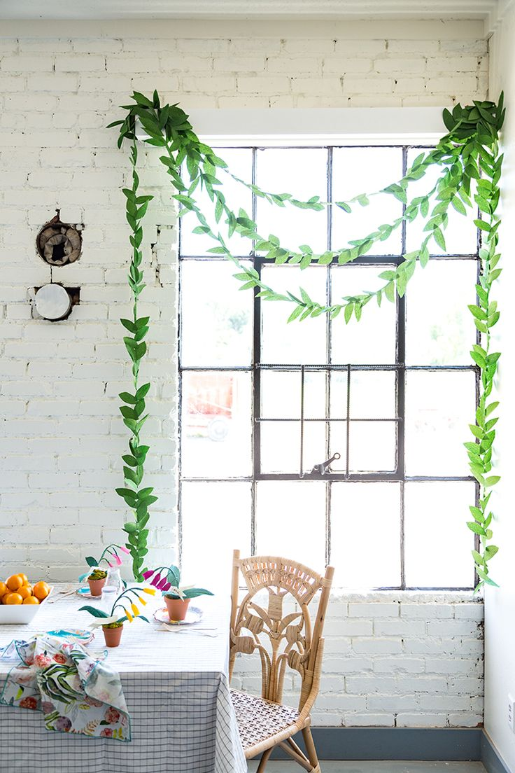 DIY paper leaf garland perfect for any occasion!