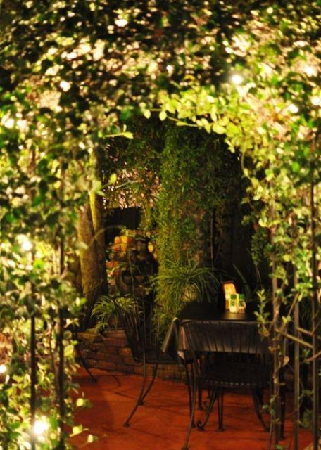 Casa Maya Courtyard. St. Augustine FL: Secret Gardens, Augustine Florida, Ceilings Formed, Augustine Usa, Maya Courtyard, Outdoos Space, St Augustine, Beautiful Gardens