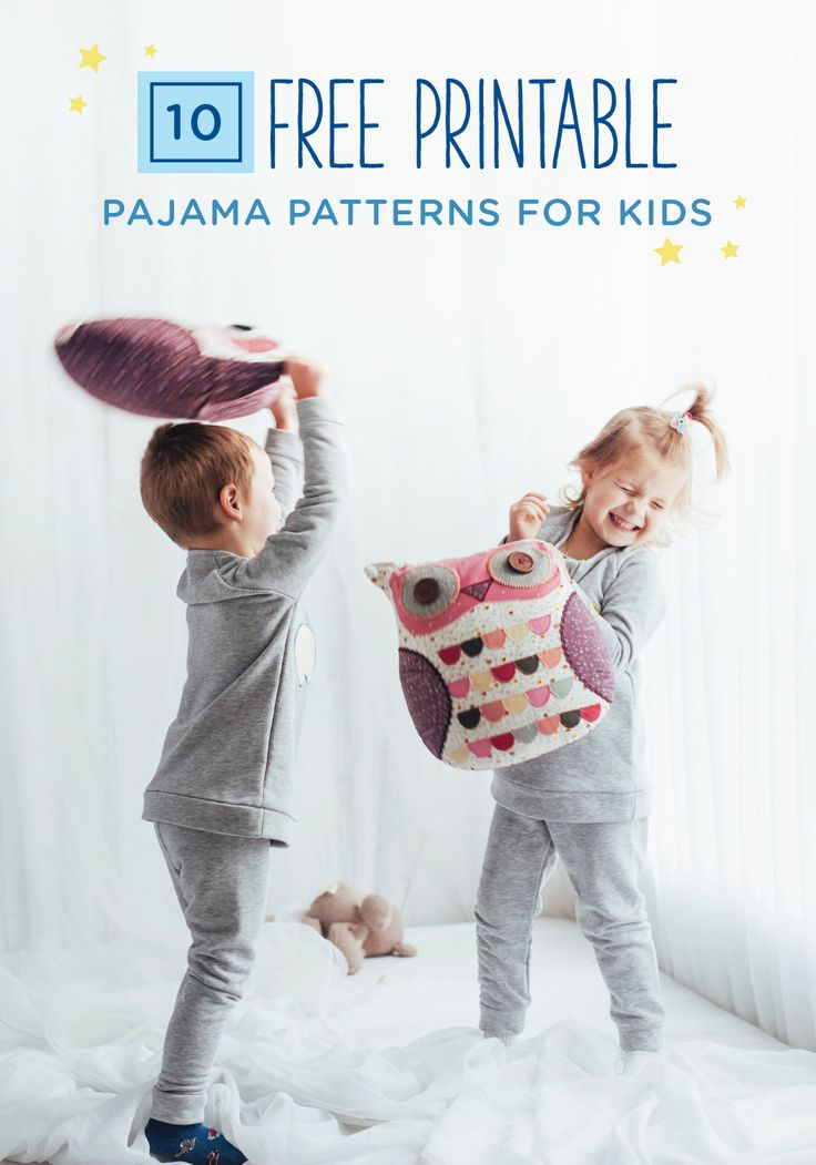 This collection of free printable pajama patterns for kids offers plenty of options for you and your child to choose from. With everything from kangaroo pocket pjs to jersey pajama pants, your child will love getting dressed for bed each night. If your kid wets the bed, be sure to remind her to change into her GoodNites Bedtime Pants. The comfortable fit and wide range of sizes will help keep her protected against nighttime wetness.