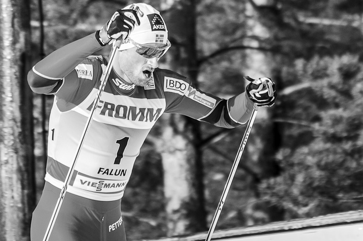 Petter Northug. Fighting face.